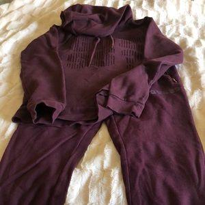 Guess sweatpants and sweatshirt